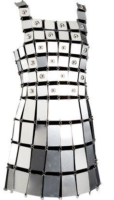 STYLING Fashion Art :: Paco Rabanne Armor Metal Dress