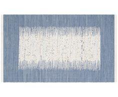 Teppich SUNITA aus Baumwolle bringt Ihnen Dynamik in Ihr Interieur! Dank seinem energiegeladenem Muster. Handgewebt ist er ein echter Schatz, der Ihr Leben bereichert. Zusätzliches Plus: Der Teppich eignet sich auch bei Fußbodenheizung.