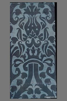 Piece Date: first half 16th century Culture: Spanish Medium: Silk Dimensions: L. 106 x W. 23 1/2 inches (269.2 x 59.7 cm) Classification: Textiles-Woven Credit Line: Rogers Fund, 1926 Accession Number: 26.231.18