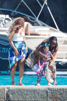 Beyoncè, Blue Ivy & Kelly Rowland in Italy September 2015