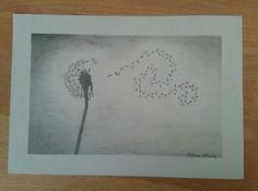 Dandelion pencil drawing