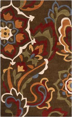 Surya COS9056 Cosmopolitan Brown Rectangle Area Rug