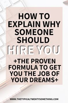 """How to answer """"why should we hire you"""" during a professional job interview. The formula and how exactly you can answer this hard interview question. Best Interview Answers, Interview Skills, Job Interview Questions, Job Interview Tips, Job Interviews, Job Resume, Resume Tips, Resume Ideas, Job Interview Preparation"""