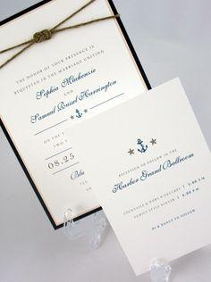 Nautical Wedding Invitation by JacquelineAnnInvites on Etsy, $6.25
