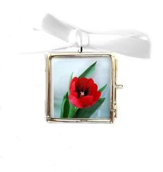 Mother's Day Jewelry Tulip Photo Locket  RED by LovesParisStudio, $15.00