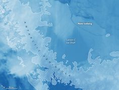 NASA& Aqua satellite provides a space-based view of the giant iceberg that calved off Antarctica& Larsen C ice shelf. Antarctic Ice Shelf, Fertile Woman, Houston, Universe Today, And July, July 10, Science Photos, Space Images, Earth From Space