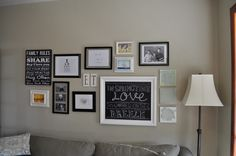 Gallery Wall idea, different colors for sure