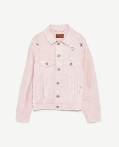 Image 8 of PINK DENIM JACKET from Zara
