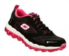 Tênis Skechers Women's Skech Air Black Hot Pink #Tênis #Skechers