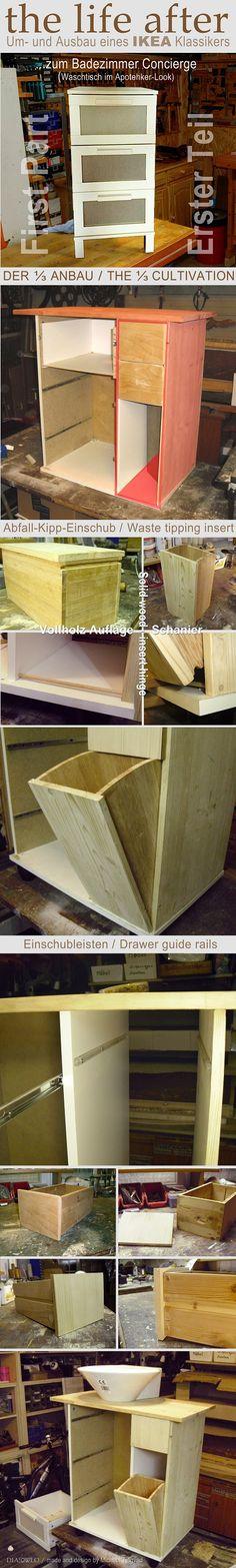 Tresen mit Glasvetrine für kleine Kuechen Manche Möbel \ - badezimmer selber bauen
