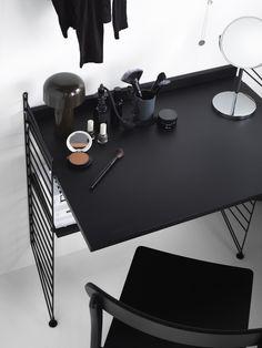 Scandinavian Shelves, Scandinavian Furniture, Scandinavian Design, Modular Shelving, Modern Shelving, Built In Shelves, Metal Shelves, Arsenal, String Regal