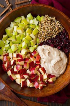 Creamy Cinnamon Apple and Walnut Fruit SaladReally nice recipes.  Mein Blog: Alles rund um die Themen Genuss & Geschmack  Kochen Backen Braten Vorspeisen Hauptgerichte und Desserts # Hashtag