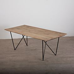 @Overstock - This wooden table is supported by a sturdy iron frame and finished in a natural wood tone. This unique piece was handcrafted by artisans in India.http://www.overstock.com/Worldstock-Fair-Trade/Dudwha-Wooden-Dining-Table-India/6820238/product.html?CID=214117 $710.99