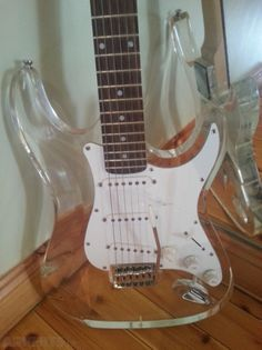 Glass Effect Acryiic Fender Strat Style Guitar For Sale €190 from Adverts.ie #Fender #Guitar