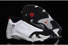 "Air Jordan 14 Retro ""Black Toe"" White/Black-Varsity Red-Metallic Silver On  Sale 2016 Discount"