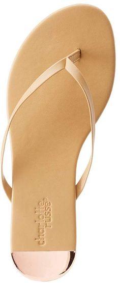 Gold-Trim Sandals