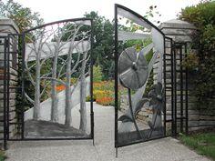 Gate at university of Michigan Matthaei Botonical Garden
