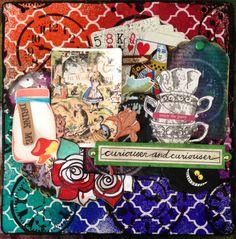 Alice in Wonderland themed art exchange