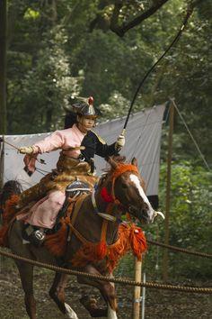Yabusame rider, Meiji Shrine