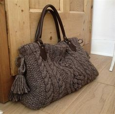 Aran Cable Bag