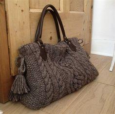 Aran Cable Bag