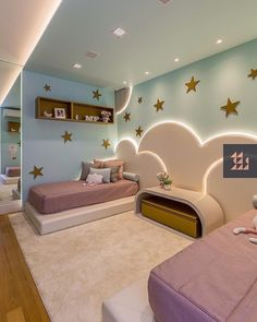 Stunning 34 Outstanding Kids Bedroom Design Ideas That Your Kids Will Like It. Kids Bedroom Designs, Kids Room Design, Teen Room Decor, Home Decor Bedroom, Girl Room, Girls Bedroom, Wardrobe Design Bedroom, Kids Room Furniture, Design Interiores