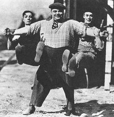 Buster Keaton, Fatty Arbuckle y Al St. John en 1918