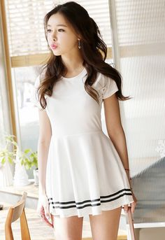 Bottom Stripeline Point Dress