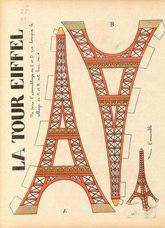 cardstock eiffel tower bella-s-birthday-ideas
