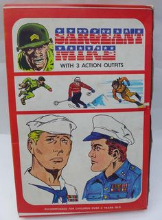 ☆ VINTAGE LMC ACTION MAN STYLE SARGEANT MIKE BOXED SOLDIER & UNIFORMS ☆ in…