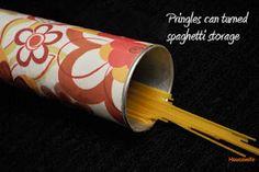pringles can = spaghetti storage