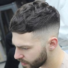 High Fade with Cropped Top and Beard