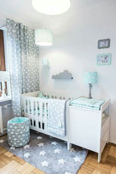 Gray & mint green: perfect color combination for every baby room .- Gray & mint green: perfect color combination for every baby room. You can find this beautiful furniture set in our offer. Baby Boy Room Decor, Baby Boy Rooms, Baby Boy Nurseries, Girl Room, Room Baby, Boys Bedroom Sets, Baby Bedroom, Nursery Room, Baby Room Themes