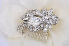 WendyVintage Style Rhinestone Bridal Comb by labellechanson, $19.00
