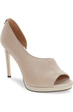 Calvin Klein 'Saira' Peep Toe Demi-d'Orsay Platform Pump (Women) available at #Nordstrom