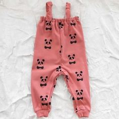 mini rodini organic panda trousers