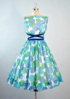 Vintage 50s Party Dress / 1950s Sundress by GeronimoVintage