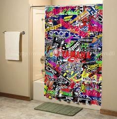 "New Waterproof Miami Heat Red Basket Ball Custom Shower Curtain 60 x 72 /"" #"
