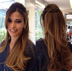 fotos cabelos medios a longo penteado solto convidada festa 15 anos - Pesquisa Google