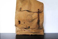 boy scouts canvas hiking sack