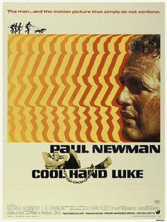 """Cool Hand Luke, 1967! """"Sometimes nothin' can be a real cool hand!"""""""