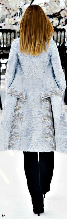CHRISTIAN DIOR FALL 2014 COUTURE. TG️PM---1st TIME I HAVE SEEN SWAKARA IN WHITE! MAGNIFICENT---RP BY HAMMERSCHMID