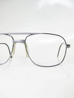Wire Rim Aviator Eyeglasses Mens Guys Homme 1970s 70s Seventies Silver Metallic Shiny Chrome Oversized Huge Indie Hipster Chic Geeky Geek