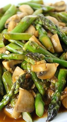 Asparagus and Mushroom Stir-Fry, tried this today and it was completely awesome!