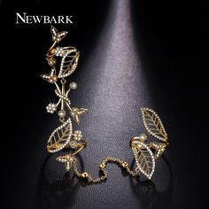Find More Rings Information about NEWBARK Exquisite Butterflies Double Finger…