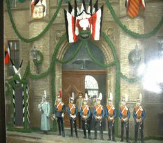 The front door of the 3rd Garde Uhlan Regiment. The Wache of the regiment in formation. The doors are large enough to allow passage of two mounted riders into the center of the garrison.