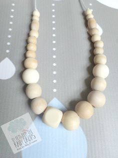 Silicone Necklace Teething Necklace/ by InBetweenTheRaindrop http://etsy.me/1Di9QUS via @Etsy
