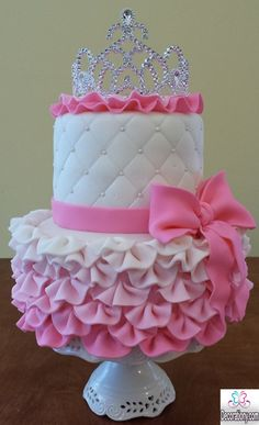 pink cake for gilrs birthday