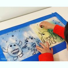 This awesome sensory activity is perfect for kids of all ages who love monsters! #sensoryplay #preschool #kindergarten #homeschool