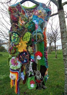 gilet FreeForest (crochet freeform)
